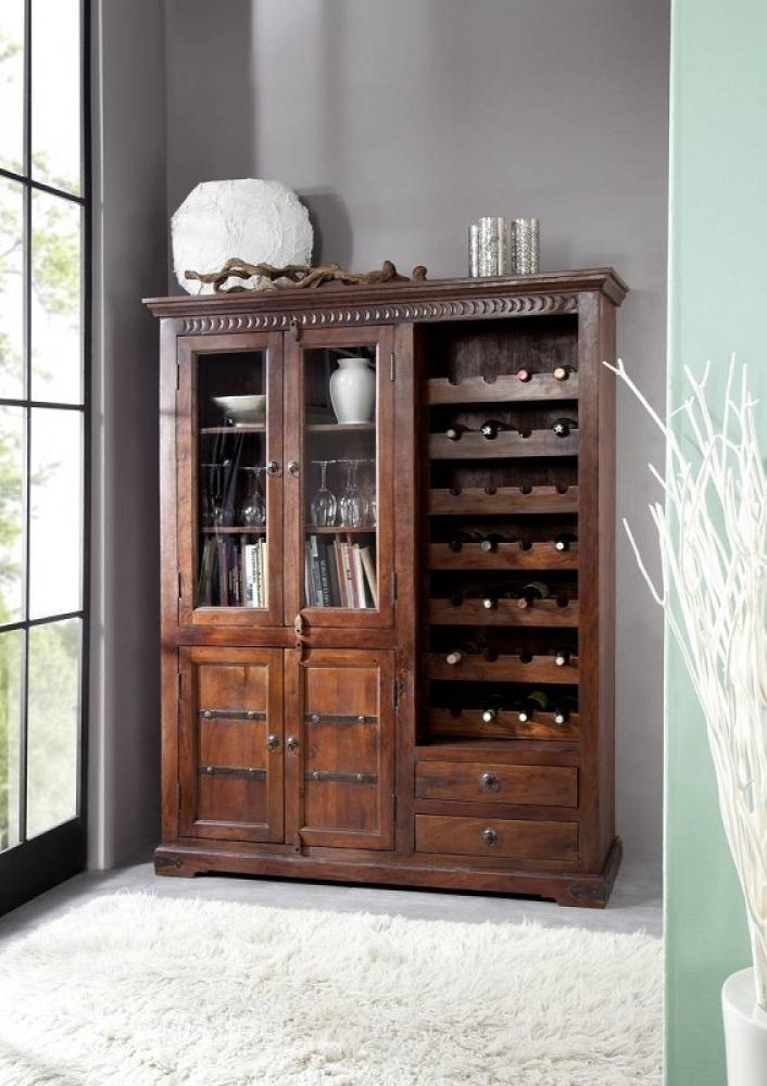 OXFORD #519 Kolonialer skrinka na víno, masívne agátové drevo