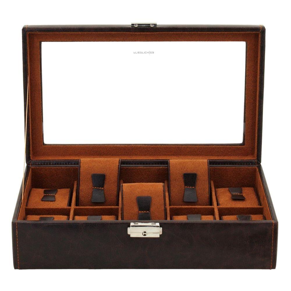 Box na hodinky Friedrich Lederwaren Bond 10 Brown