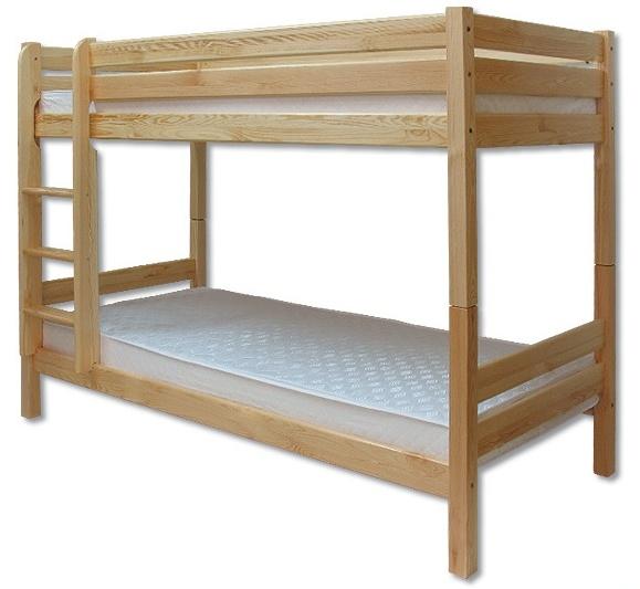 Poschodová posteľ 90 cm LK 136 (masív)