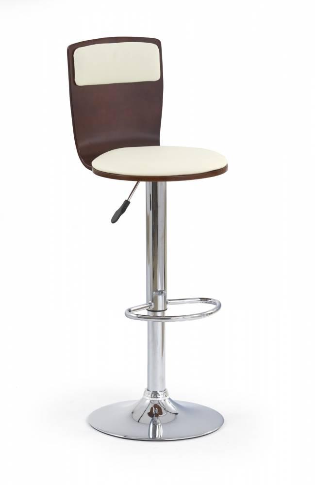 Barová stolička H-7 Čerešňa antická + Béž