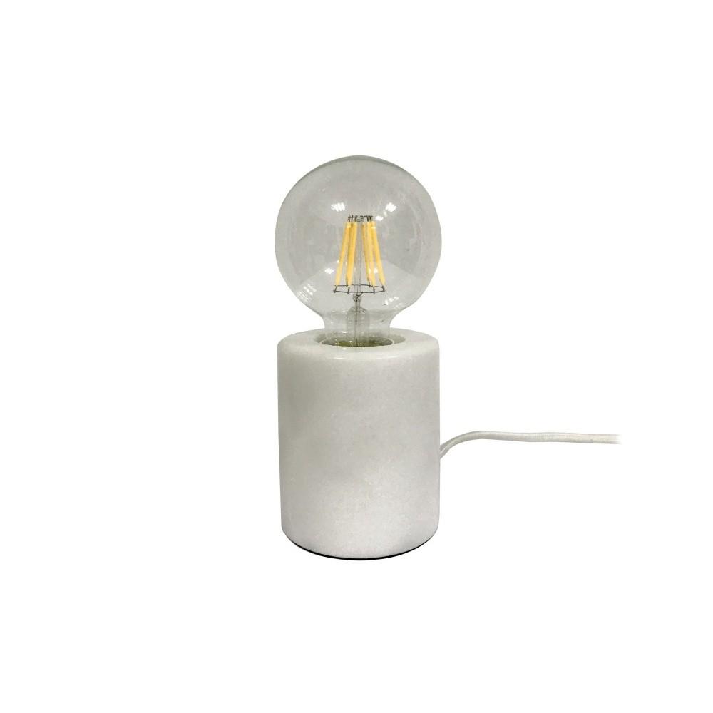 Stolová lampa s bielym mramorovým podstavcom Leitmotiv Bar