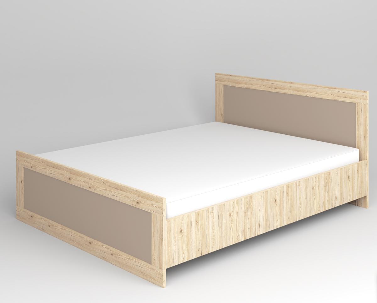 ML MEBLE MODERN 16 160 posteľ - dub San Remo / grafit