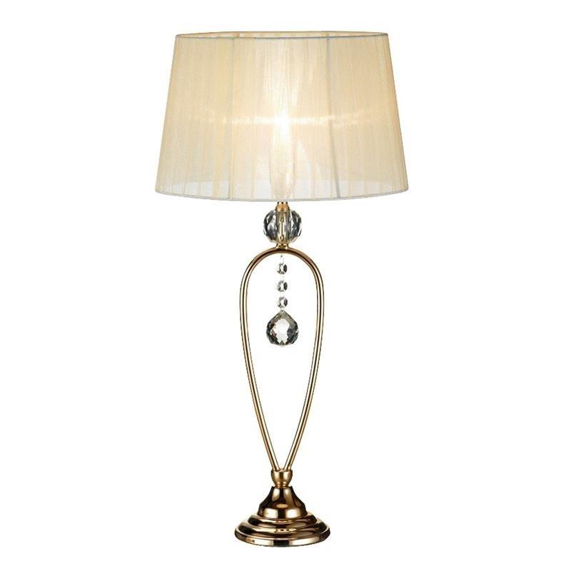 Krémová stolová lampa Markslöjd Christinehof