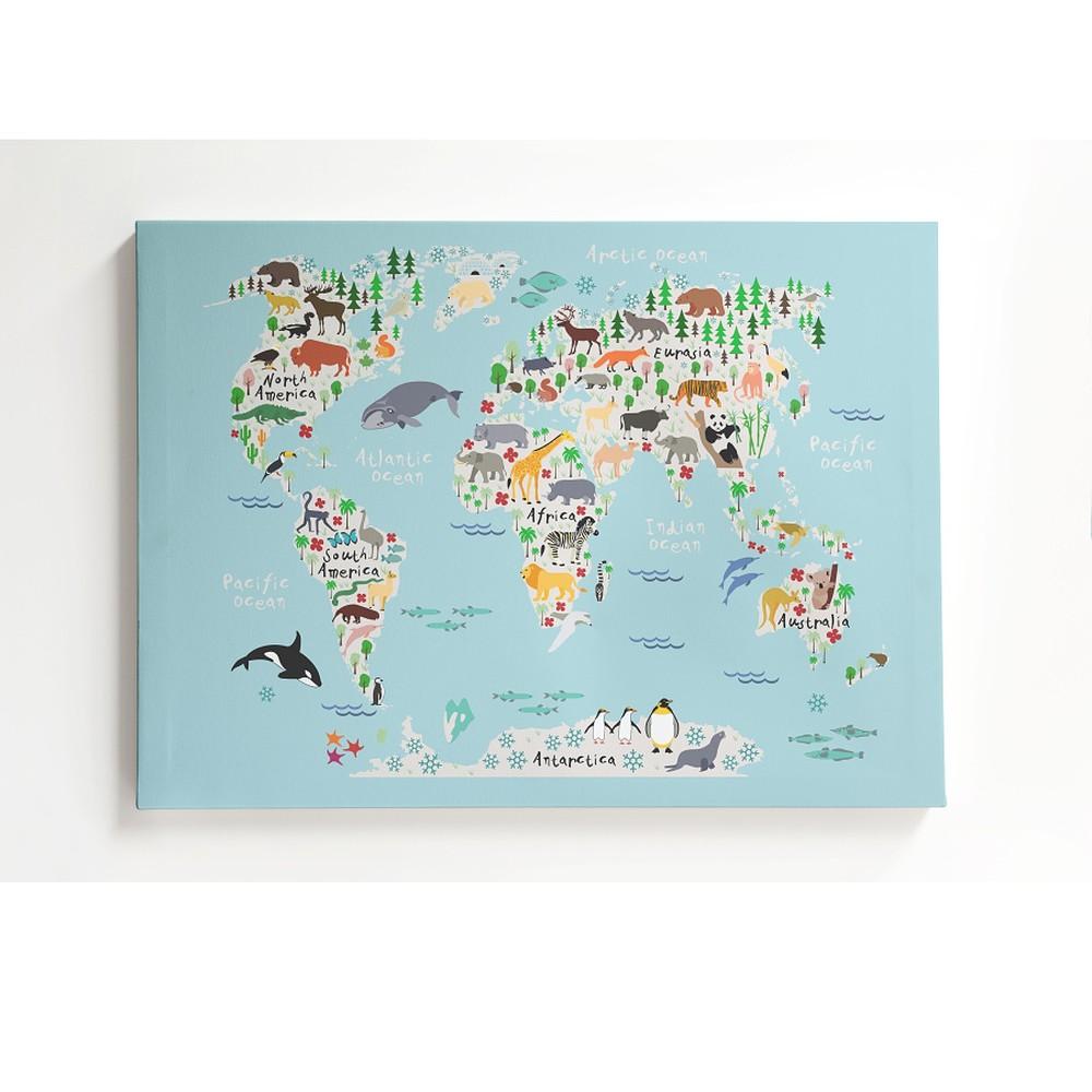 Obraz na plátne Little Nice Things Mapamundi, 50 x 70 cm