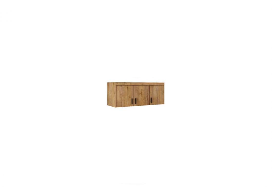 Nástavec na šatní skříň ELLENA 3D, 133x55x53, dub lefkas