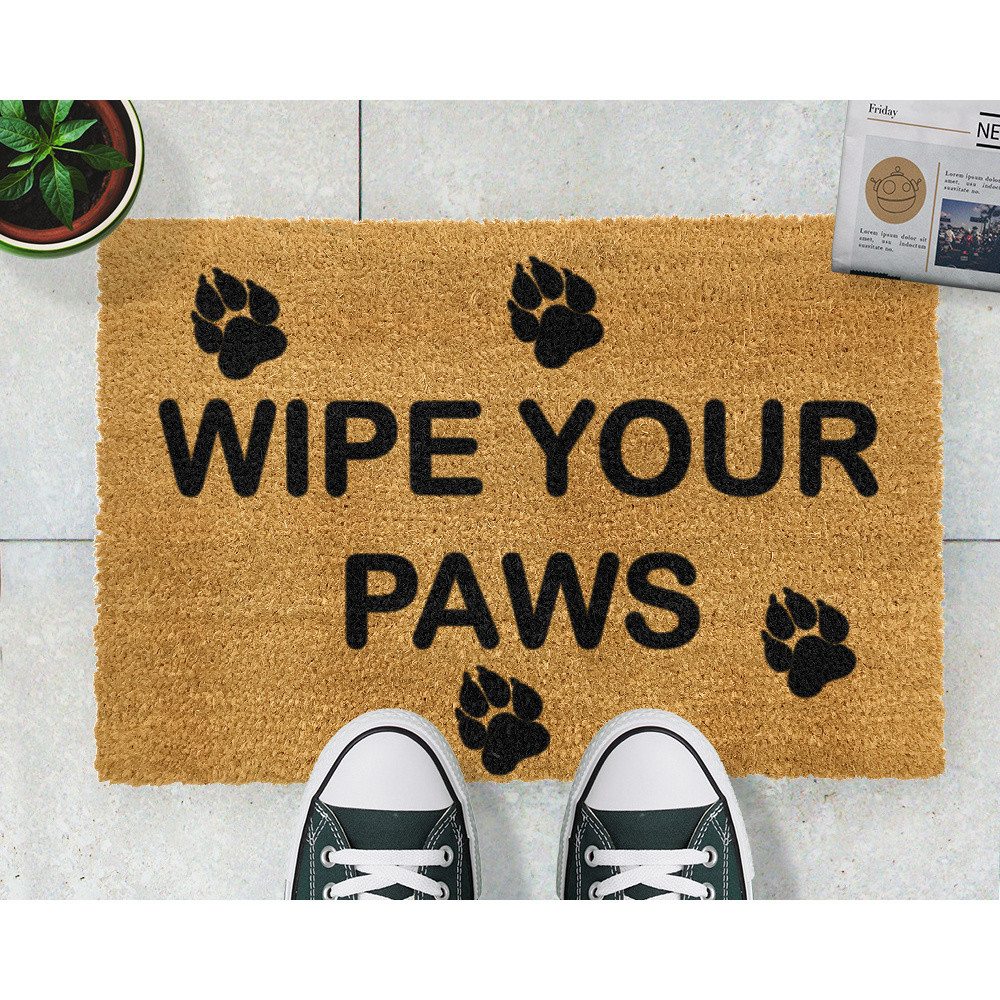 Rohožka Artsy Doormats Wipe Your Paws, 40 x 60 cm