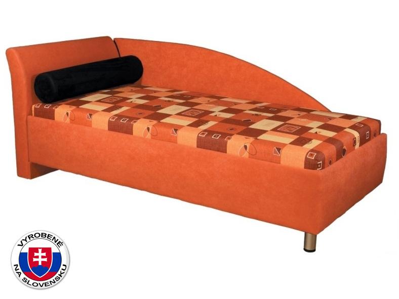 Jednolôžková posteľ (váľanda) 90 cm Perla (s molitanovým matracom) (L)