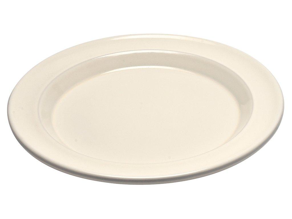 Plytký tanier Emile Henry slonová kosť 28 cm