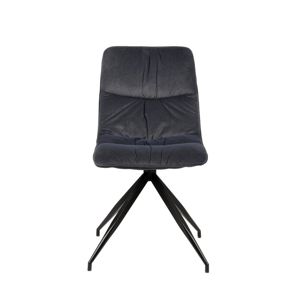 Antracitová jedálenská stolička LABEL51 Spider
