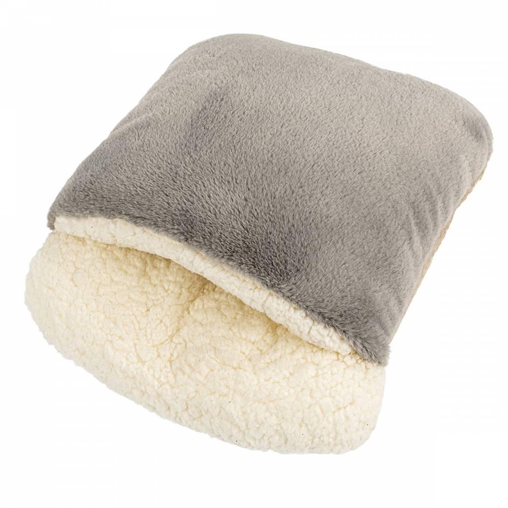 BO-MA Trading Baránkový rukávnik sivá