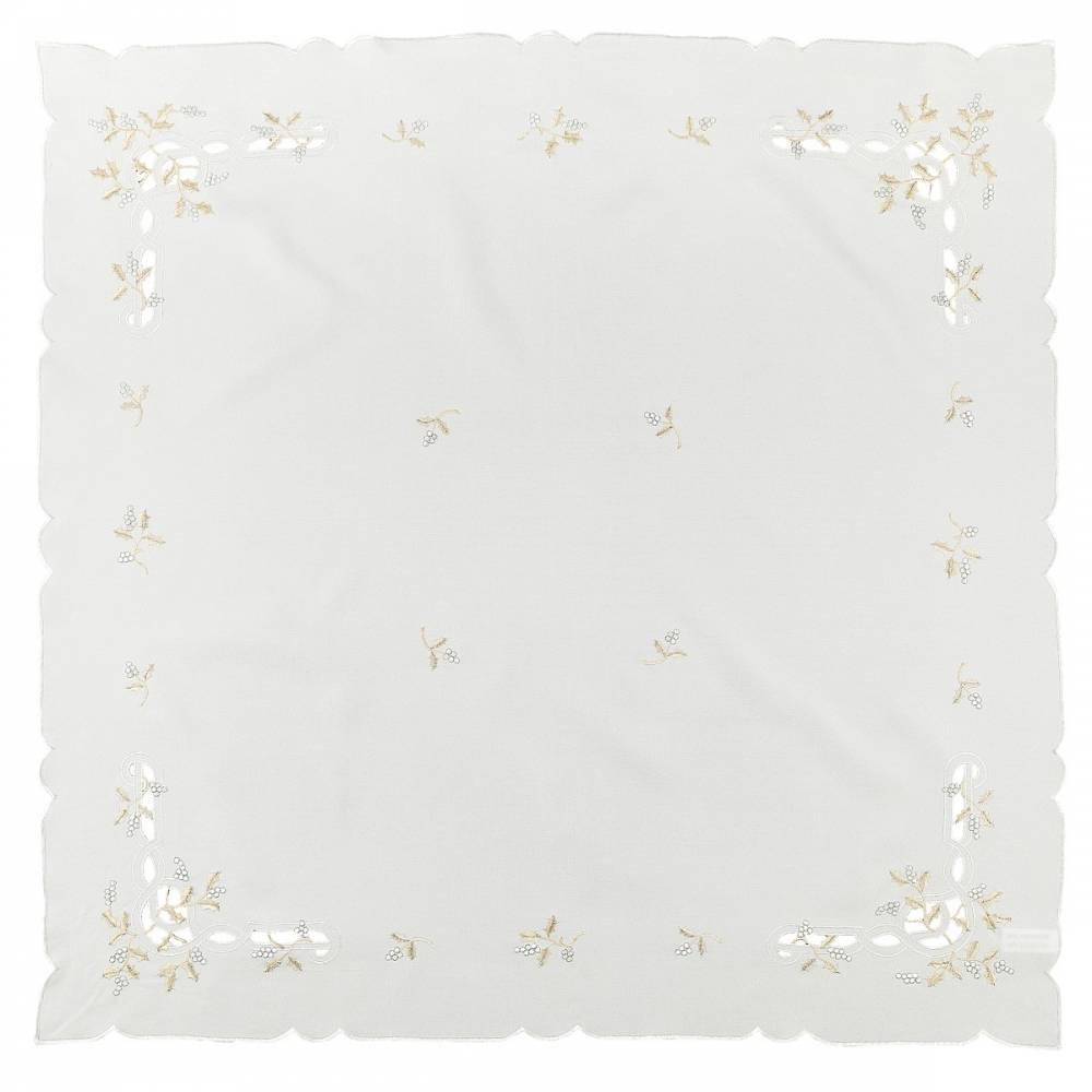 Forbyt Vianočný obrus imelo krémová, , 85 x 85 cm