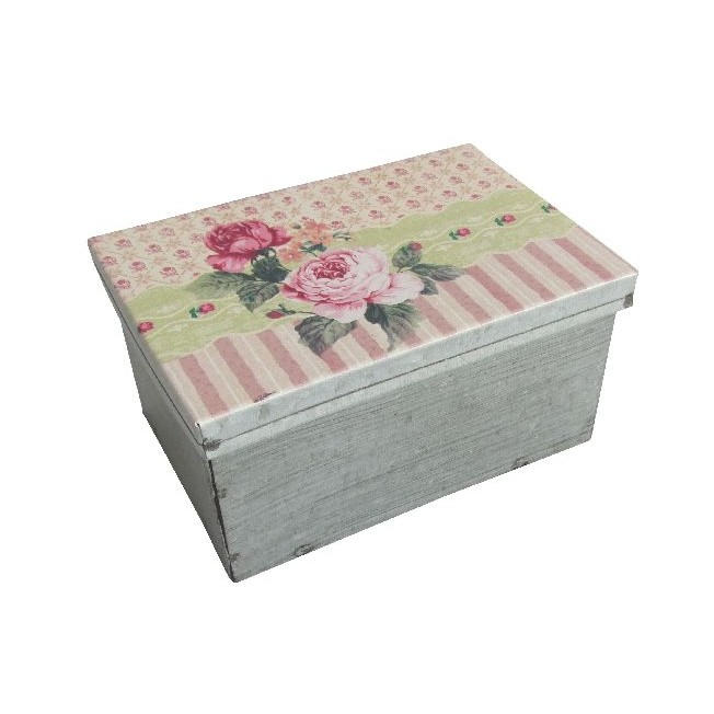 Zinkový box  Antic Line Stripes and Roses