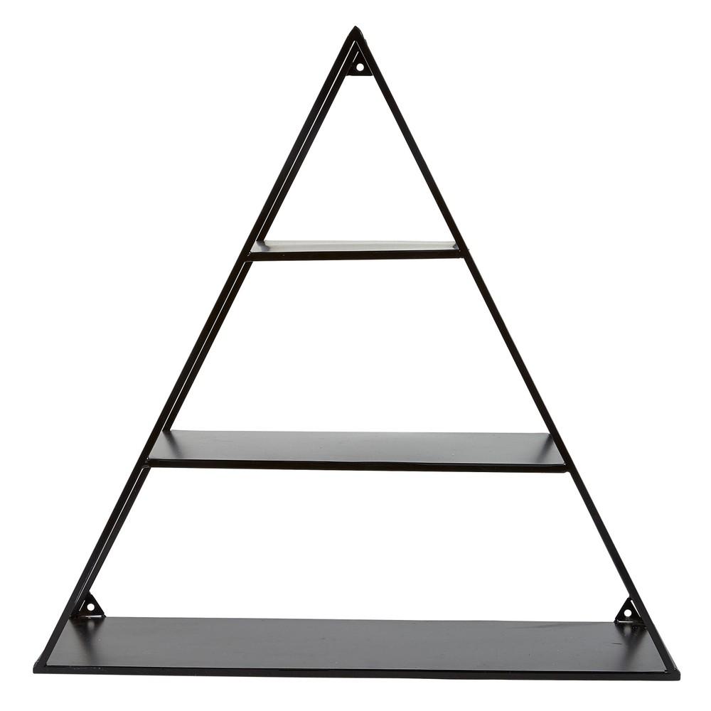 Čierna polica v tvare trojuholníka Villa Collection