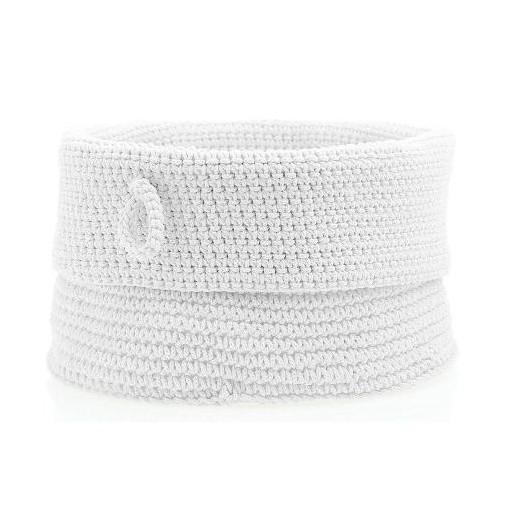 Košík Confetti White, 19 cm