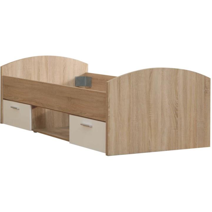 TEMPO KONDELA WINIE WNL 09 90 posteľ s úložným priestorom - dub sonoma / biela
