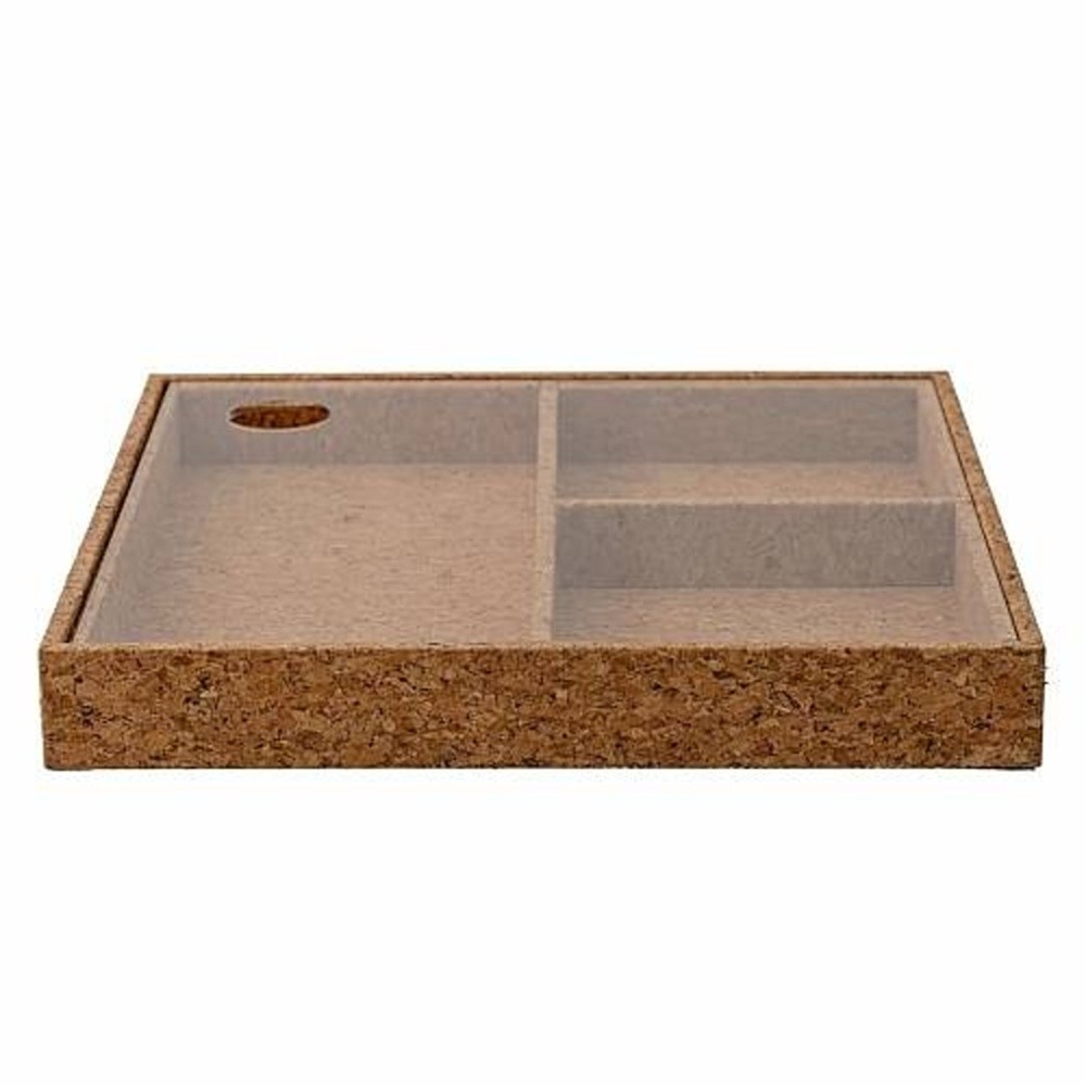 Úložný korkový box s viečkom Bloomingville Nature Cork, 24×24 cm