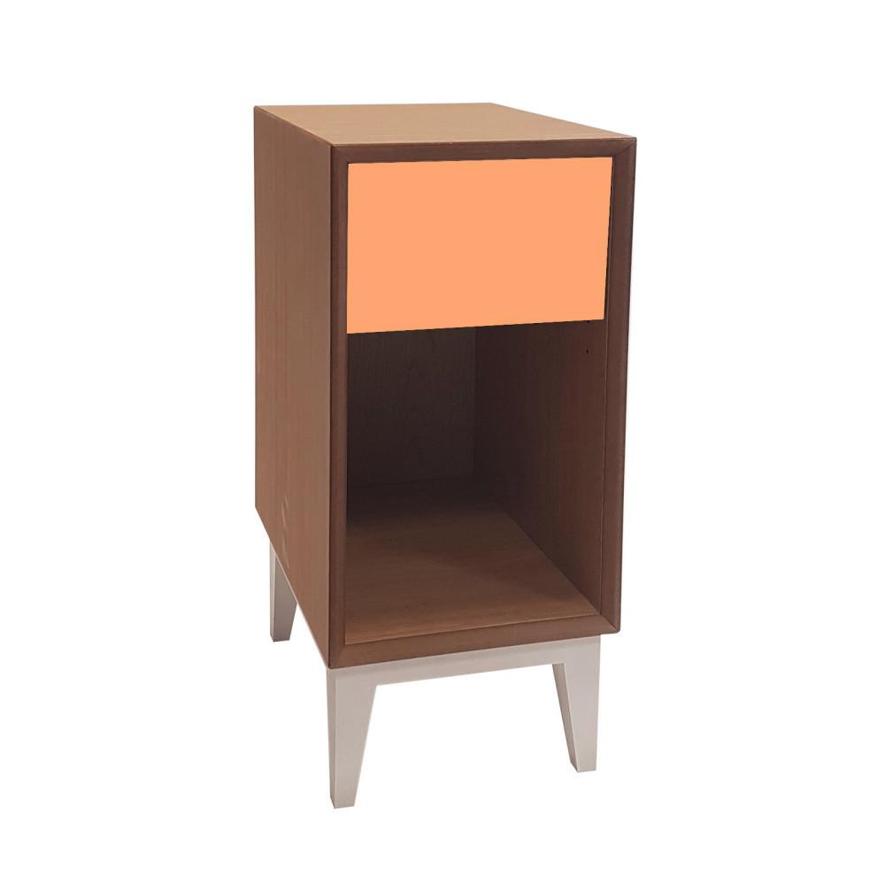 Malý nočný stolík so sivou zásuvkou Ragaba PIX