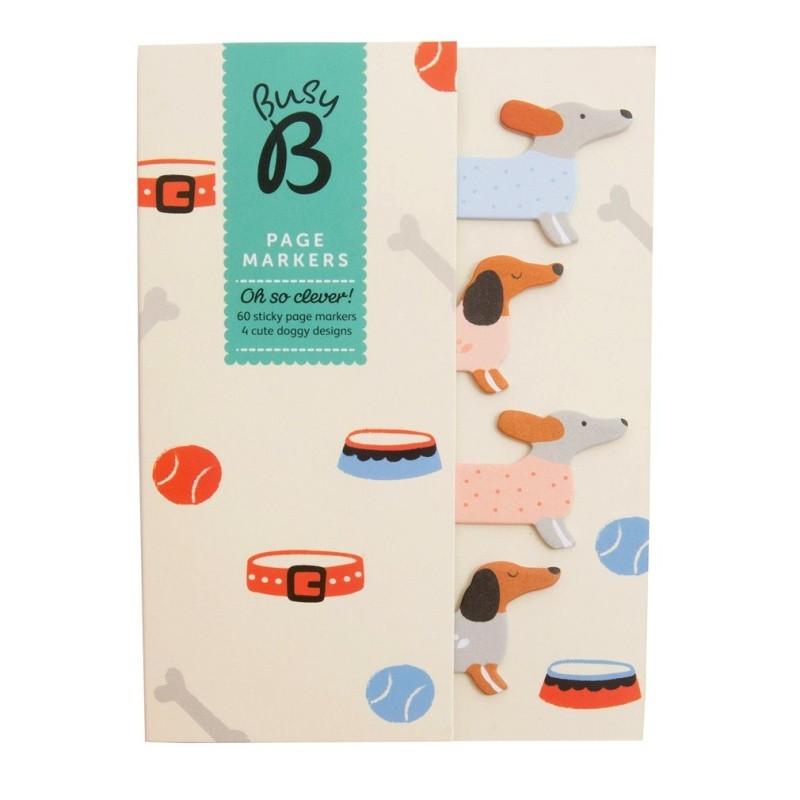Štítky Busy B Page Markers Doggy
