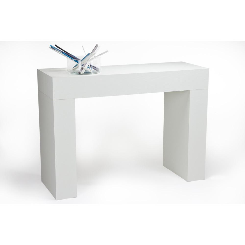 Konzolový stolík v dekore bielej borovice MobiliFiver Evolution