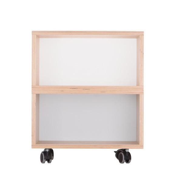 Bielo-sivý nočný stolík Durbas Style