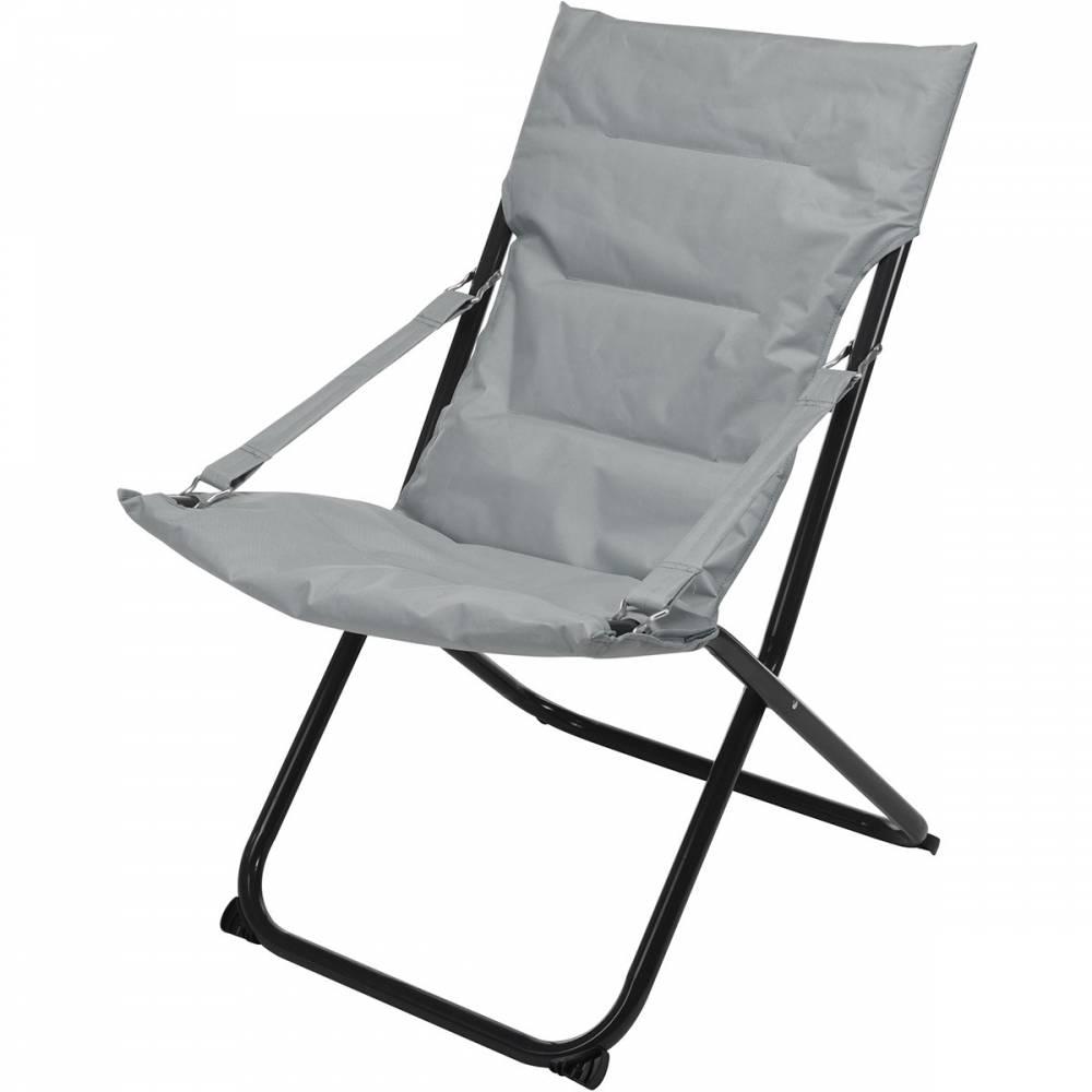 Skladacia stolička, sivá