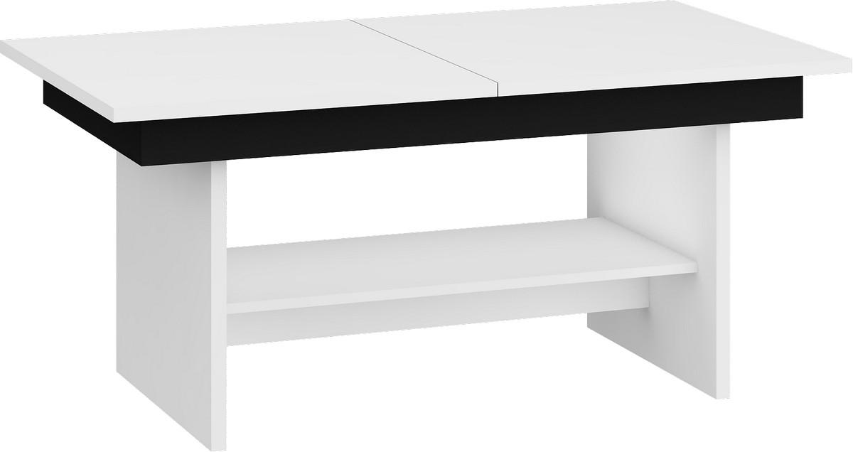 Konferenčný stolík Dallas Biela + čierna