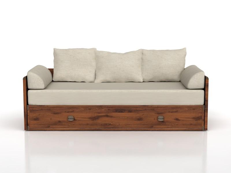 Rozkladacia posteľ 80 až 160 cm INDIANA JLOZ 80/160 (Dub sutter)