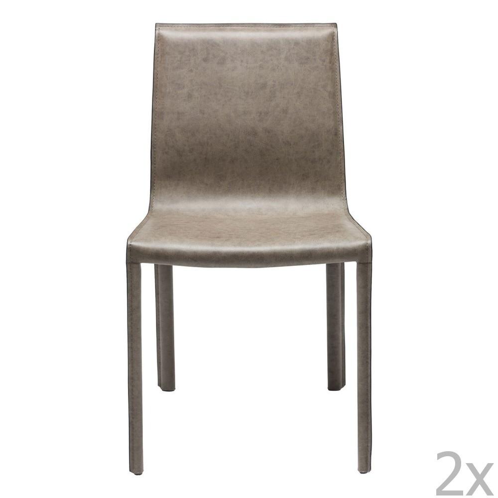 Sada 2 sivozelených stoličiek Kare Design Fino