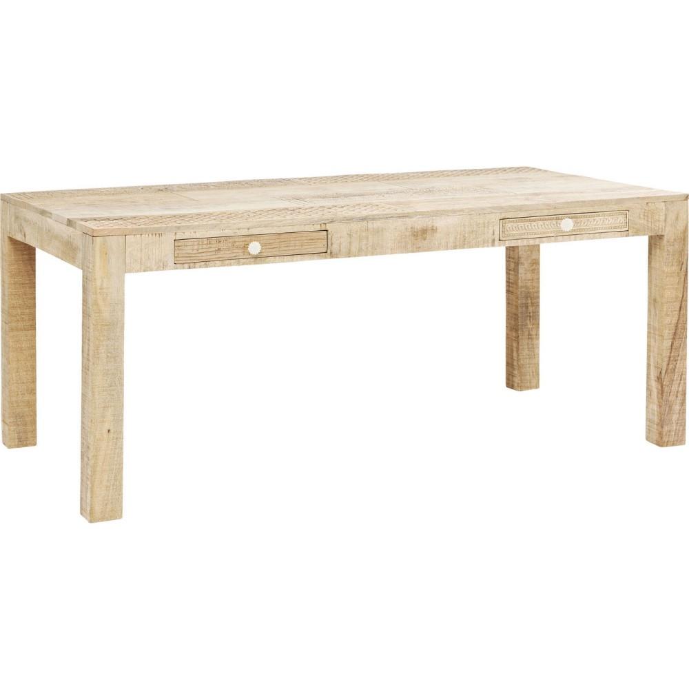 Jedálenský stôl s ručne vyrezávanými detailmi Kare Design Puro, dĺžka 180 cm