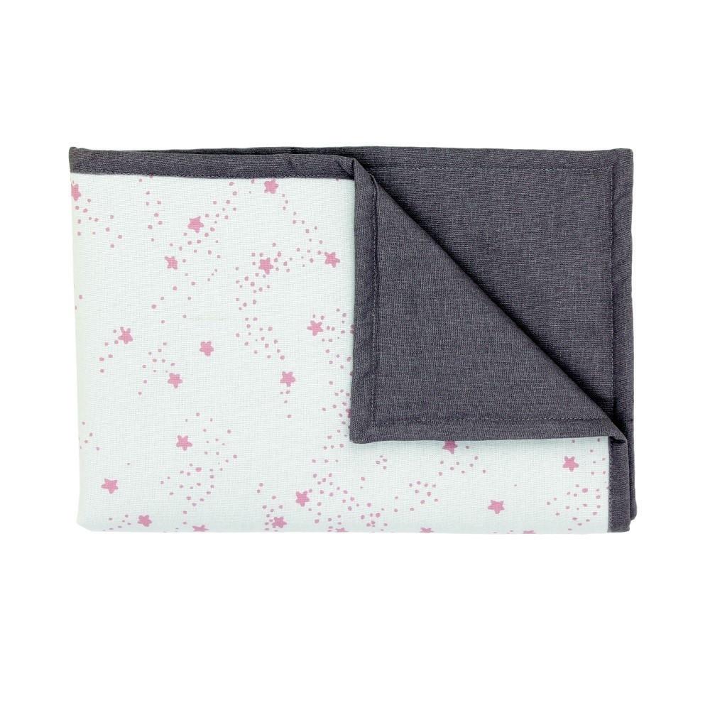 Sivá detská deka s ružovými hviezdičkami Art For Kids Stars