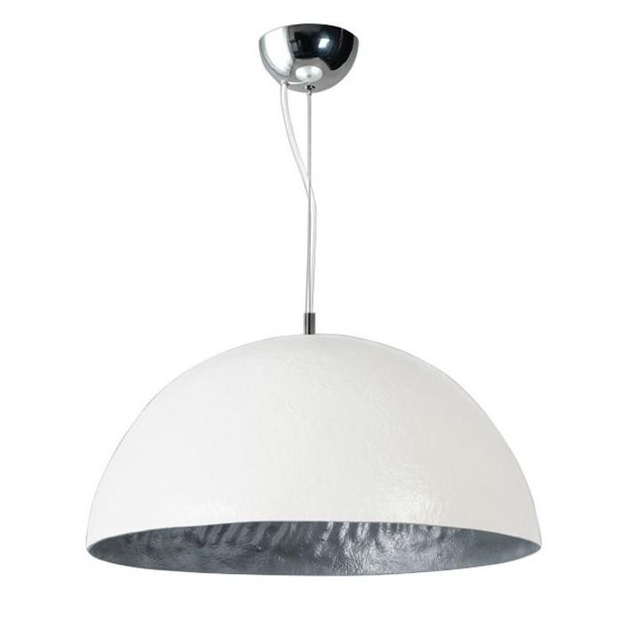 Bielo-strieborné stropné svietidlo ETH Mezzo Tondo, ⌀50cm