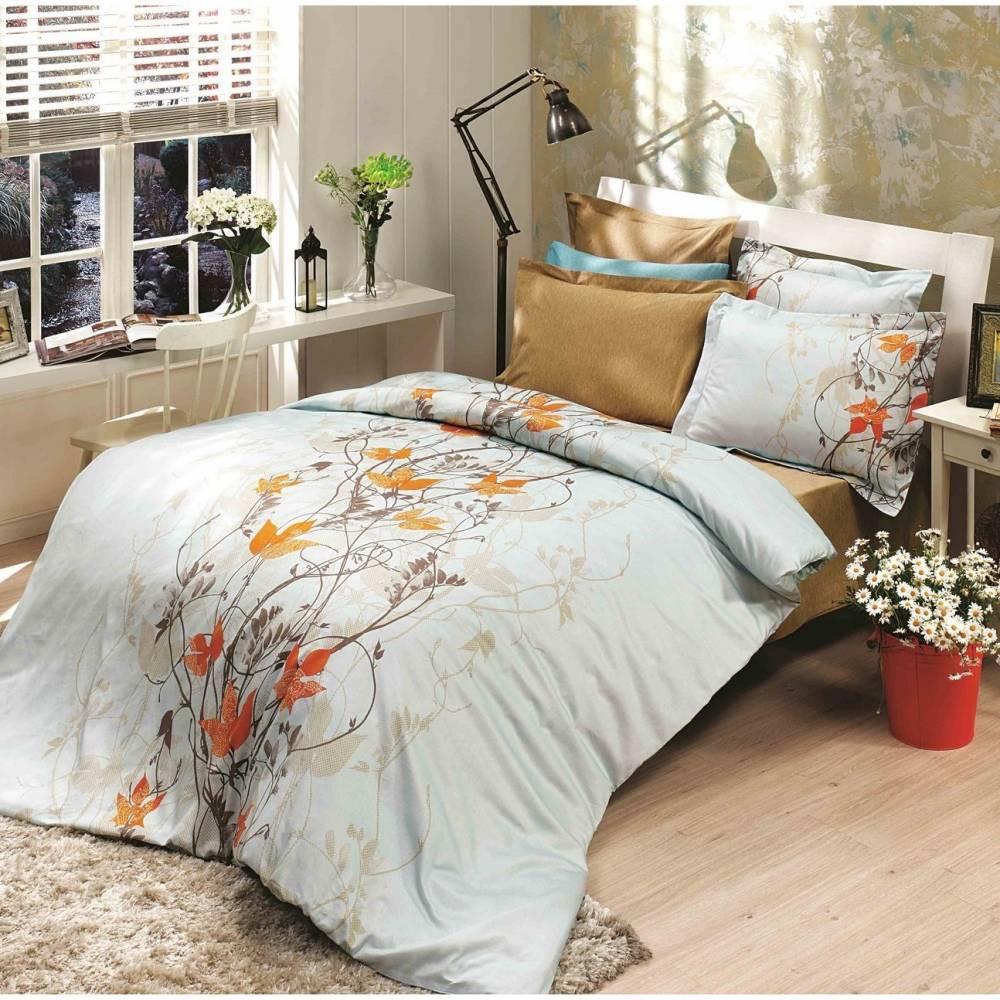 Halley home Bavlnené obliečky Giselle oranžová, 220 x 200 cm, 2 ks 70 x 90 cm