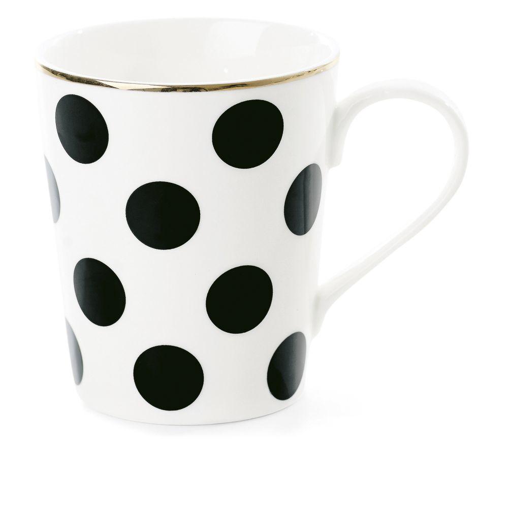 Keramický hrnček Coffee Big Black Dots