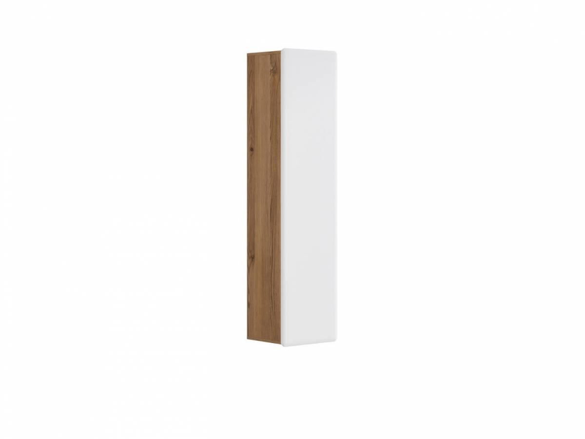 Skrinka na stenu Possi Light SFW1D/16/4 (smrekovec sibiu zlatý + lesk biely)