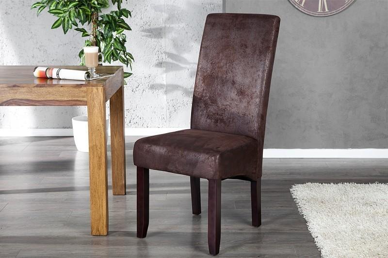 Jedálenská stolička VALENTINA Vintage Look - kávová
