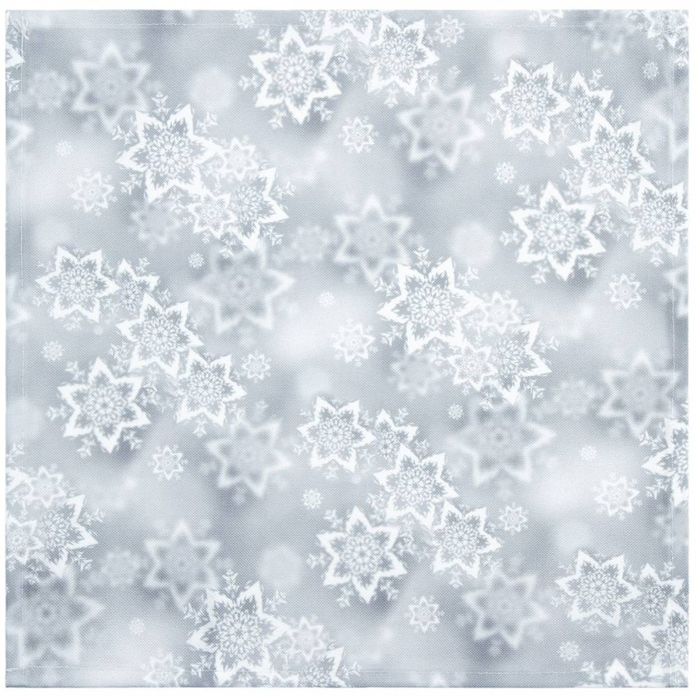Forbyt Vianočný obrus Hviezdy strieborná, 35 x 35 cm
