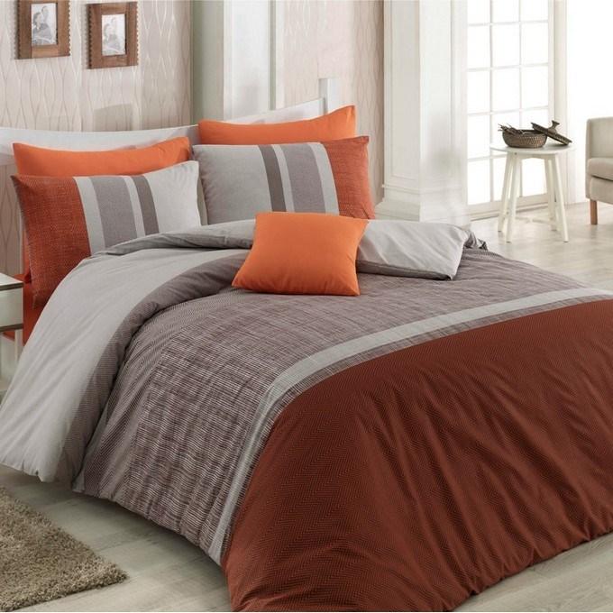 BedTex Bavlnené obliečky Spencer hnedá, 140 x 200 cm, 70 x 90 cm