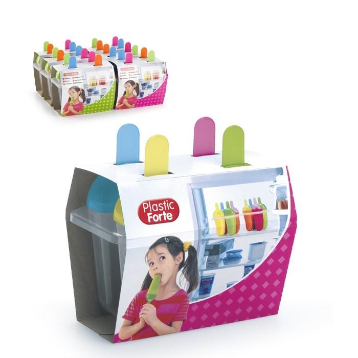 Forma na nanuky 4ks; 15,5x9,5x15,5 cm; plast; mix farieb