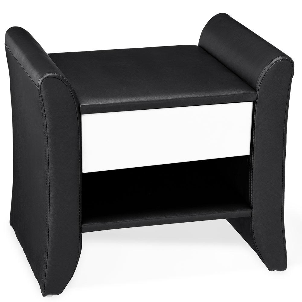 Corium® Elegantný nočný stolík - 47 x 37 x 44 cm - čierno-biely