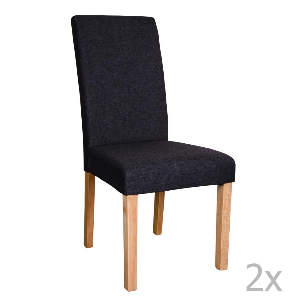 Sada 2 čiernych stoličiek House Nordic Mira