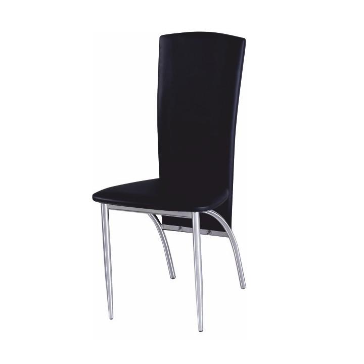 TEMPO KONDELA FINA jedálenská stolička - čierna / chróm
