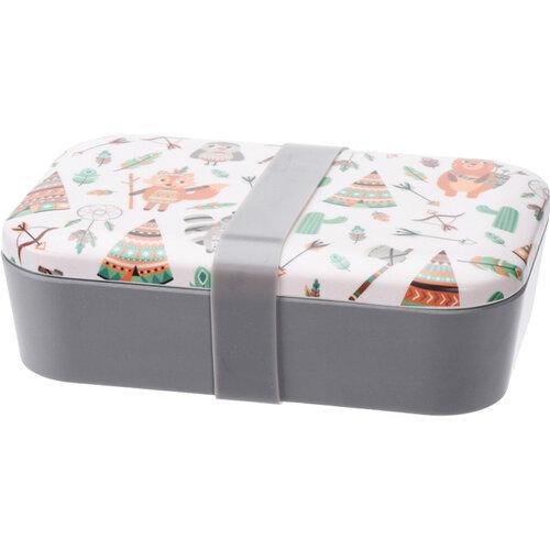 Desiatový box Indian, 19 x 13 x 5,5 cm, biela