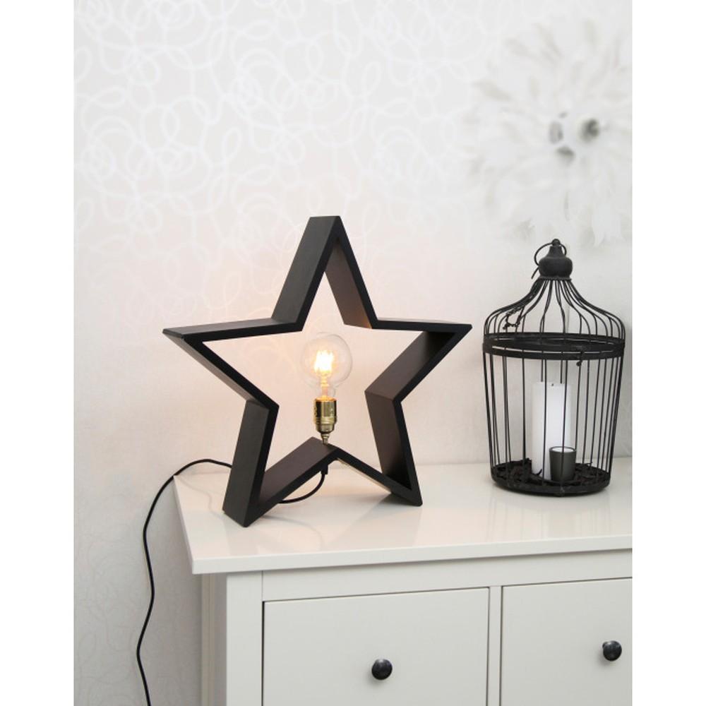 Čierna drevená svietiaca hviezda Best Season Lysekil