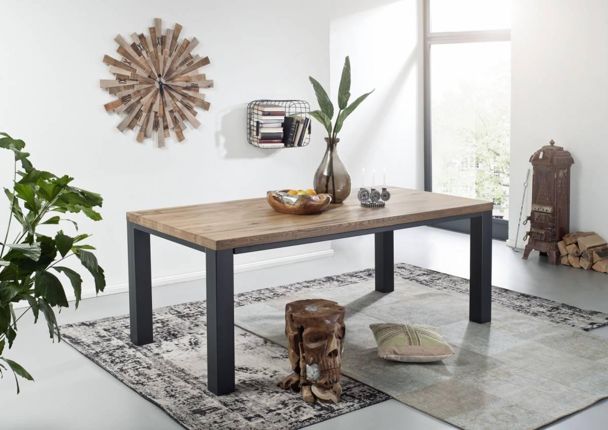 Bighome - TIROL Jedálenský stôl 200x100 cm, tmavohnedá, dub