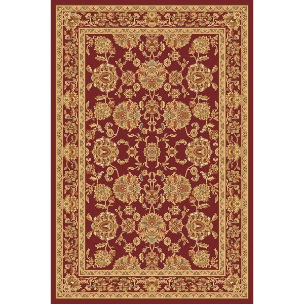 Habitat Kusový koberec Super Antique frame červená, 67 x 130 cm