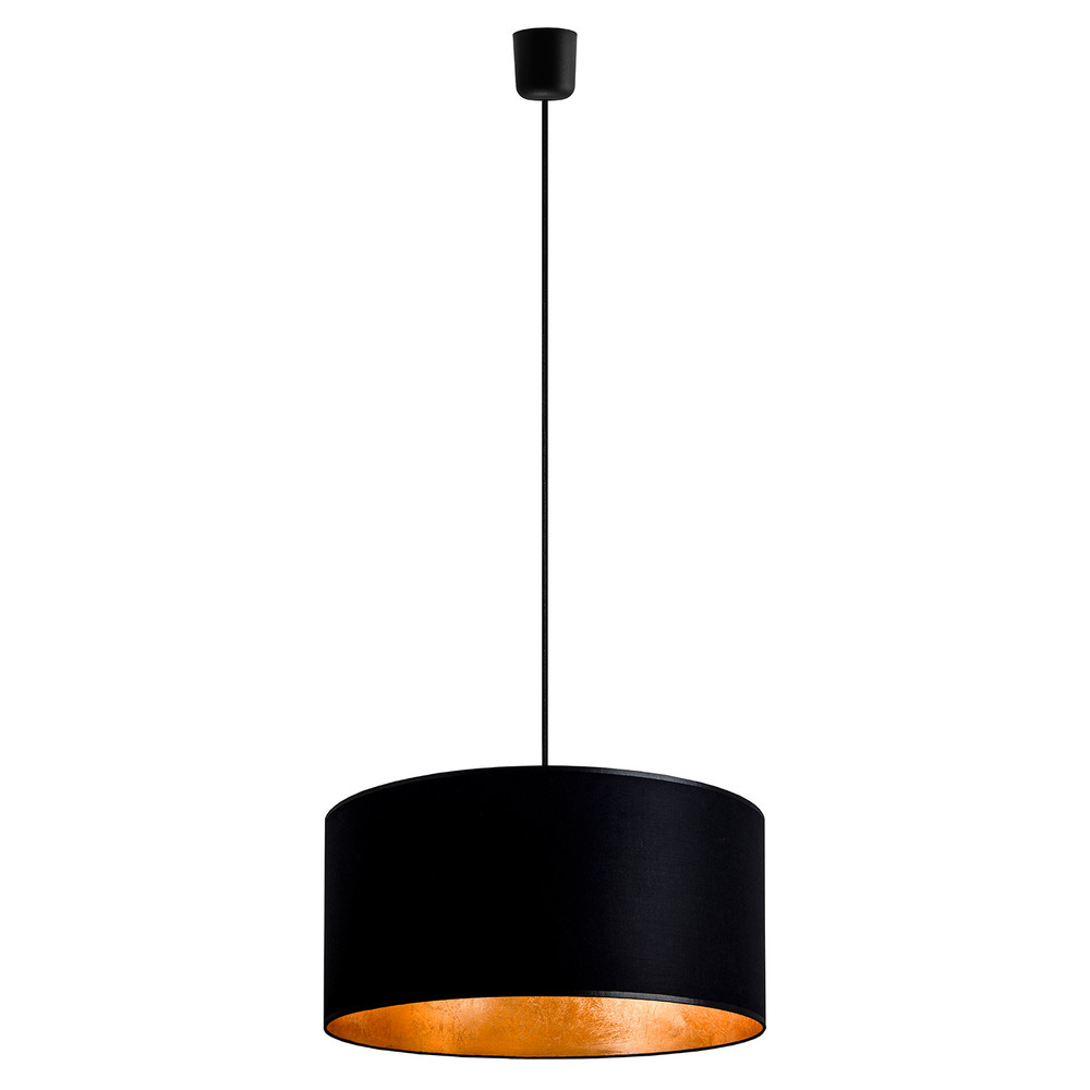 Čierno-zlaté závesné svietidlo Sotto Luce Mika, Ø 40 cm