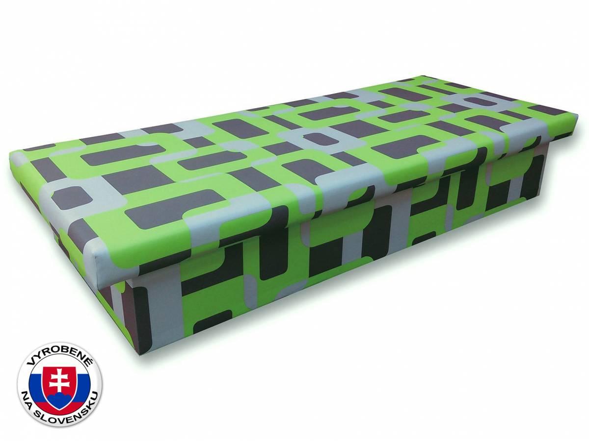 Jednolôžková posteľ (váľanda) 90 cm Jana 10 (Gusto 5A zelená)
