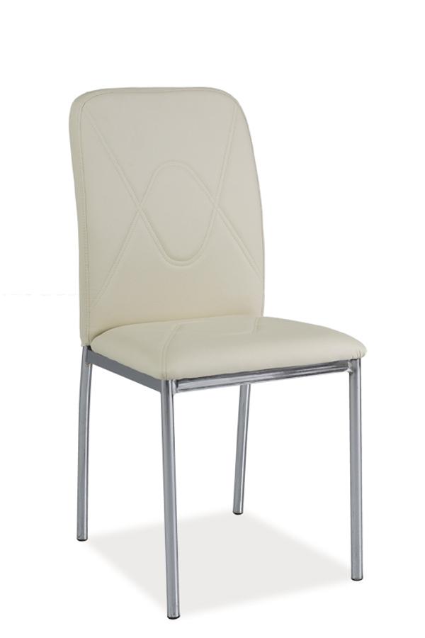 Jedálenská stolička HK-623, krémová/chróm