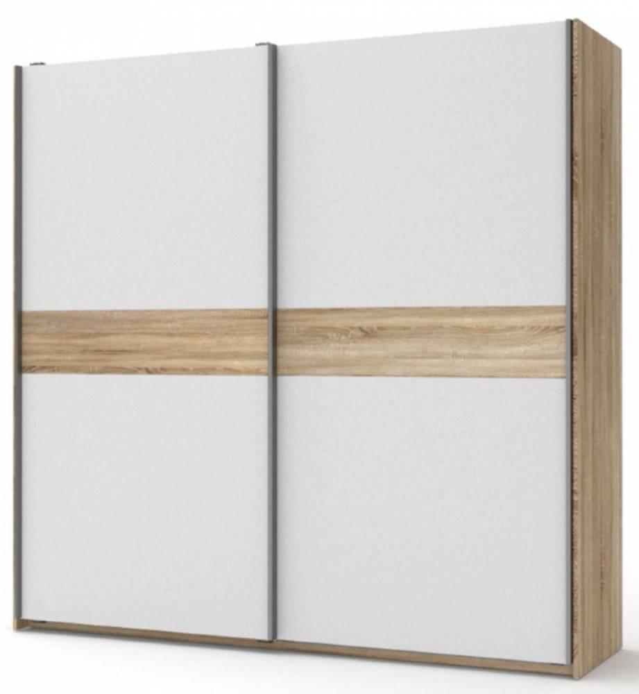 Skriňa s posuvnými dverami, biely/sonoma VICTOR  bartel |KUMAXnabytok.sk