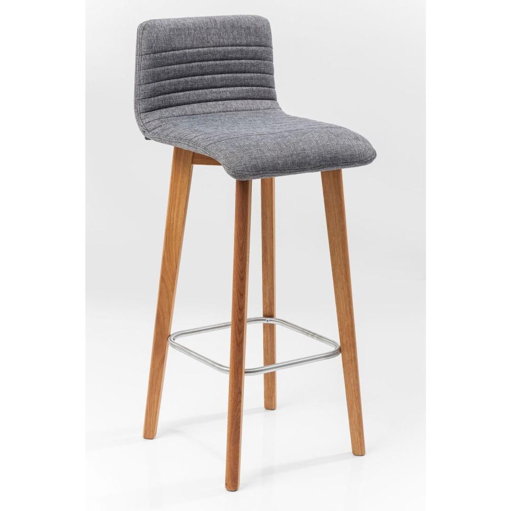 Sada 2 sivých barových stoličiek Kare Design Lara